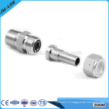 Raccords de tuyaux flexibles soudés à douille hydraulique