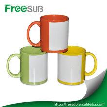11OZ white patch digital blank sublimation mugs