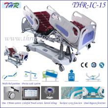 Cama de hospital multiusos eléctrica profesional de ICU (THR-IC-15)