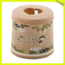 Conical Love Design Top Plastic Tissue Boxes (FF-5013-1)