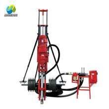 Small full pneumatic DTH borehole drilling rig