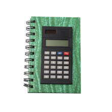 8 Dígitos Dual Power PU Material Notebook Calculator