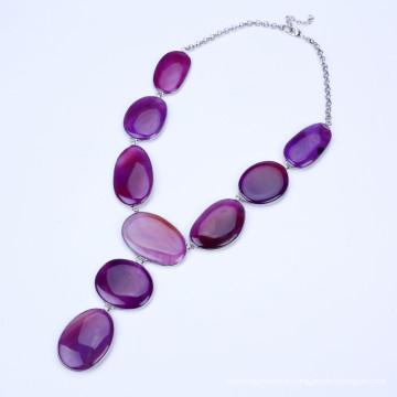 Nouveaux bijoux en pierres de pierre en couleur pourpre