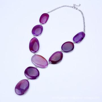 New Purple Color Stone Tassel Jewelry