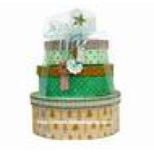 Caixa de papel de embalagem redonda de Natal de luxo