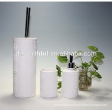 Juego de accesorios de baño de cerámica 3pcs con soporte de cepillo de tocador