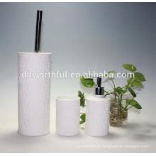 3pcs conjunto de acessórios de cerâmica do banheiro com titular escova de toalete