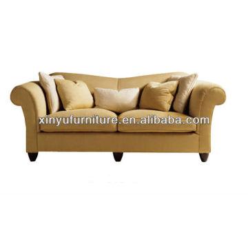 Sofá moderno de dos plazas de tela de madera XY2568