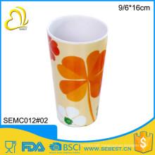 novelty direct price round melamine custom printed tea cups