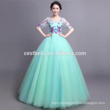 Vestidos de quinceañera vestidos de baile de vestidos de moda longa vestidos de noiva de vestido de casamento azul requintado