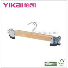 Ensemble de suspension de jupe en bois 3pcs avec clips en métal