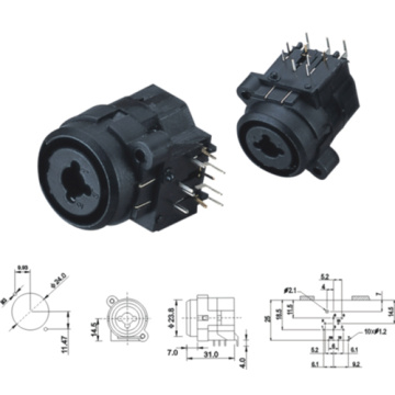 XLR Canon Connectors for VCD and DVD