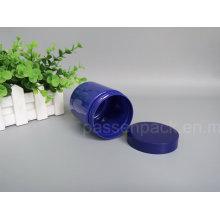 Animal de estimação Plastic Cosmetic Packaging Garrafa em cor azul (PPC-80)