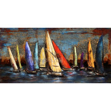 Modern Craft Metal Oil Painting for Sailing