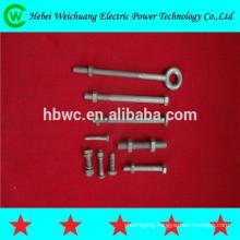 Grade 8.8 galvanized bolt threaded power fastener line hardware