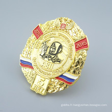 ShuangHua personnalisé moulage sous pression métal russia badge
