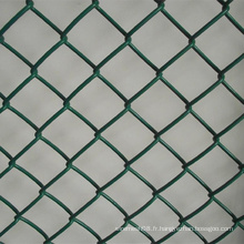 Clôture en mailles de maillons de couleur verte en PVC