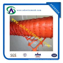 Hohe Qualität HDPE Orange und Rot Kunststoff Sicherheitszaun (ADS-SF-14)