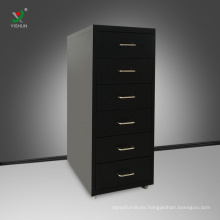 Hot sale 6 drawer cabinet knock down steel mobile drawer cabinet