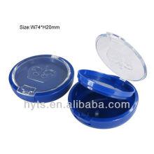 caja de polvo cosmético redondo azul