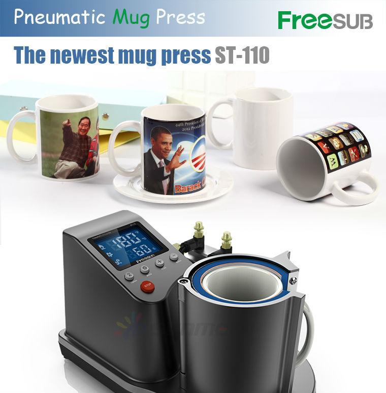 FREESUB Sublimation Black Coffee Mugs Printing Machine