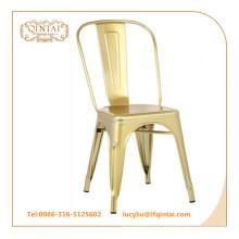 Silla de metal retro vintage color oro Silla de loft color cobre
