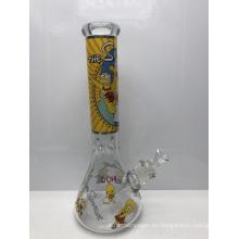 Bongs de vaso de vidrio de 7 mm con personajes de dibujos animados de los Simpson