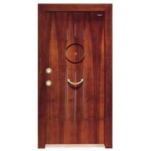 Puerta acorazada de madera de acero