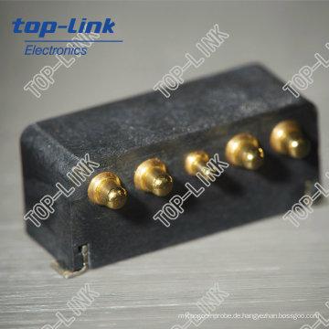 Benutzerdefinierte Messing Spring Pogo Pins mit 5 Pin, Au Plating