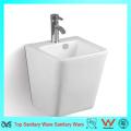 Pedestal de alta calidad de pared colgada Cuarto de baño lavabo de cerámica
