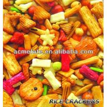 Snack food japonés mezclado arroz galleta para fiestas