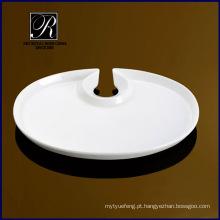 PT-0814 placa de porcelana com suporte de vidro
