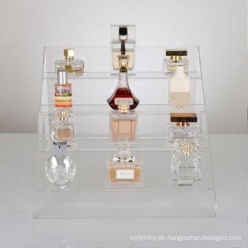 Parfüm oder Kosmetik Flasche Einzelhandel Acryl Display Schritte