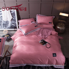 Juego de cama de hotel de lujo 100% algodón color a rayas 60S 300TC Jade precioso