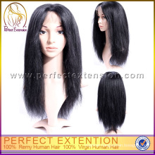 """16"""" Cheap Girl Indian Remy Burgundy Human Hair Silk Top Lace Wigs"""