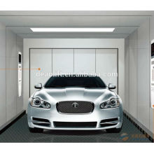 Machine room car elevator with hairless stainless steel