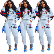 C4593 2020 Winter Fashion Pink Designer 2 Piece Sport Suit Casual Sweatsuit Women Outfits Two Piece Set Fall Clothing For Women