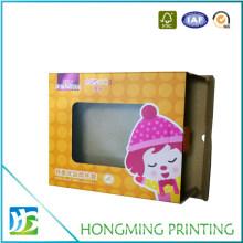 Custom Cardboard PVC Window Baby Clothes Packaging Box