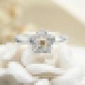 Girl′s 925 Sterling Silver Chrysanthemum Shaped Opening Ring