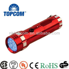 Silk screen 3*AAA battery 14 led uv flashlight