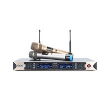 2 канала Профессиональный беспроводной микрофон UHF с двумя карманными или двумя передатчиками