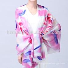 Ladies fashion hand painted custom wool scarf