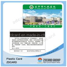Tarjeta de papel Tarjeta de plástico Tarjeta de PVC Tarjeta VIP