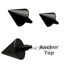 Анодированный черный Титан Спайк пользовательских дермального якорь ювелирные изделия
