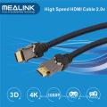Cabo HDMI 2.0 com banhado a ouro suporta Ethernet 2160p 18gbps, 3D 1.4 4k
