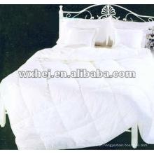 100% algodão branco acolchoado conjunto de cama consolador