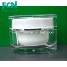 Акриловый прозрачный пластиковый корпус косметический крем коробка крем банку крем контейнер