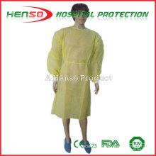 Vestido descartável de isolamento de tecido não tecido humano HENSO