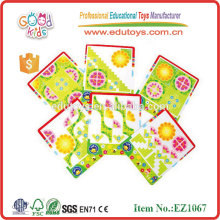 kids Toy Wooden Flower Puzzle Game