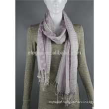 Acrylic Ladies scarves printed Long big scarf with fringe